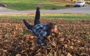 Antony Jumpin in Leaves
