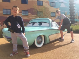 Anthony & Levi with Car